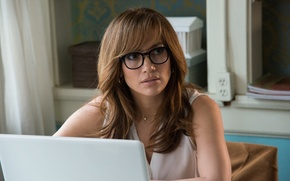 Picture cinema, Jennifer Lopez, woman, notebook, computer, movie, singer, film, actress, necklace, eyeglasses, The Boy Next ...