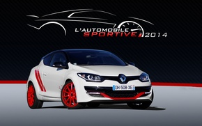 Picture Renault, White, Megane, Trophy-R