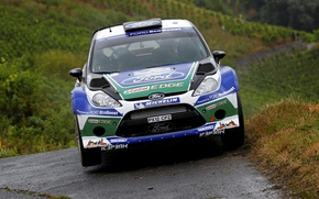 Picture Ford, The hood, Lights, WRC, Rally, Fiesta, The front, Jari-Matti Latvala, Miikka Anttila
