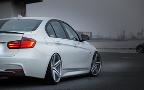 Picture car, bmw, white, tuning, vossen