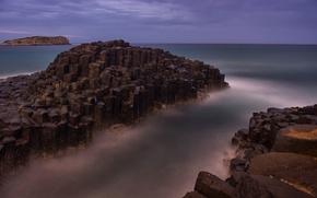 Picture sea, the sky, rocks, shore