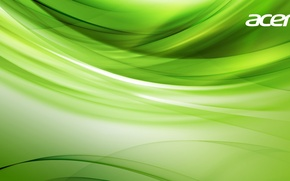 Picture green, Wallpaper, saver, Acer, Acer
