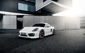Wallpaper white, tuning, Porsche, TechArt, Porsche Cayman