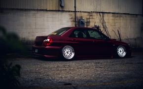 Picture Subaru, Impreza, WRX, Red, STI, JDM, Wheels