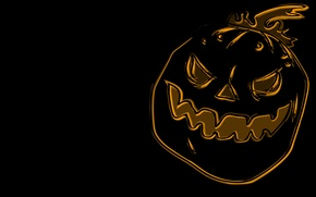 Wallpaper holiday, holiday, halloween, 1920x1080, figure, pumpkin, picture, pumpkin