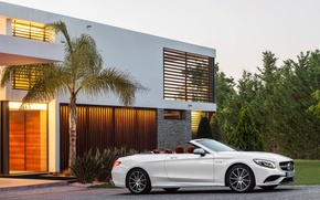 Picture house, Palma, Mercedes-Benz, white, convertible, Mercedes, AMG, S 63, S-Class, 2015, A217