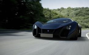 Wallpaper road, machine, auto, speed, marussia b2 sports coupe