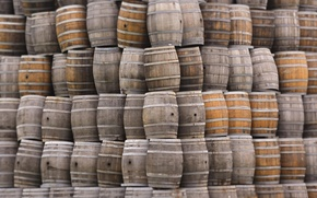 Picture tree, mountain, minimalism, a bunch, barrels