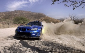 Wallpaper rally, skid, Subaru, race