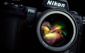 Picture the camera, lens, nikon