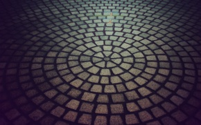 Picture road, the city, stone, tile, round, texture, texture