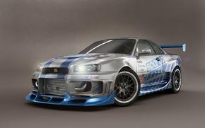 Picture Nissan, Skyline, Shoot, Studio