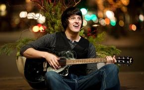 Wallpaper music, guitar, guy