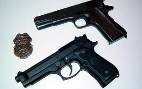 Picture Colt, Guns, Beretta, Badge