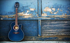 Picture music, wall, guitar