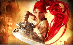 Picture girl, weapons, warrior, Heavenly Sword 2