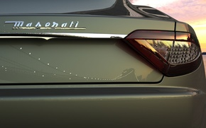 Wallpaper Maserati, headlight, Maserati, reflection