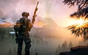 Wallpaper weapons, Battlefield 4, landscape, soldiers, equipment