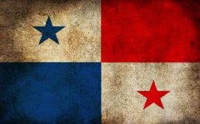 Picture flag, dirt, Panama