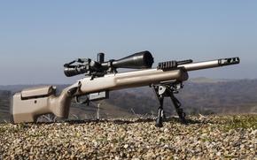 Wallpaper weapons, fry, Remington 700, optics, sniper, rifle, gravel