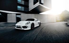 Picture white, Porsche, Cayman, Porsche, TechArt, Caiman