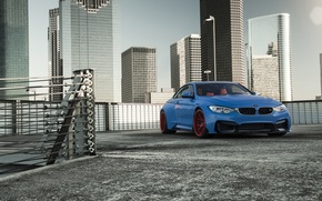 Picture BMW, Blue, Front, Vorsteiner, Sun, Widebody, Photoshoot, GTRS4