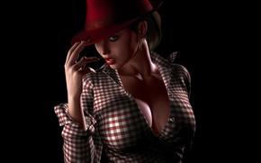 Wallpaper hat, look, dev