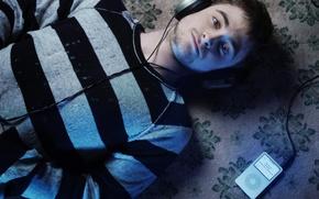 Picture music, headphones, player, actor, Daniel Radcliffe, daniel radcliffe