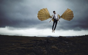 Picture people, wings, Icarus