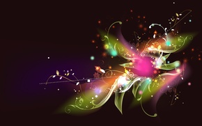 Wallpaper color, lights, colours, pattern, Shine, flower