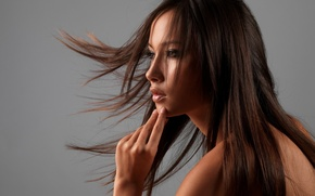 Picture wide, girl, long hair