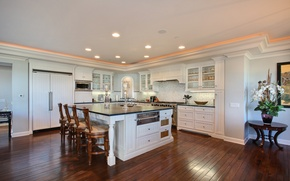 Picture design, photo, table, chairs, interior, kitchen