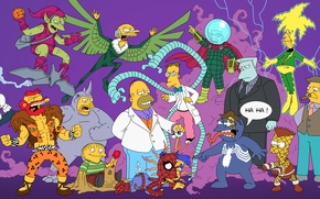 Picture The simpsons, Simpsons, Superheroes, The Simpsons, Spider-Man, Spider-Man, Superheroes