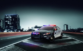 Wallpaper police, road, Interceptor, Ford