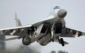 Wallpaper the plane, fighter, the rise, the MiG-29