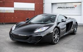 Picture McLaren, black, MP4-12C, carbon