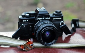 Picture macro, background, camera, Praktica BCA electronic