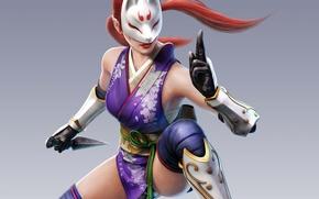 Picture mask, fighting game, kunai, Tekken, kunimitsu