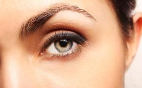 Picture woman, eye, pupil
