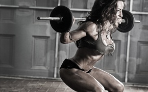 Wallpaper fitness, Susie-Romano, women, weights, gym