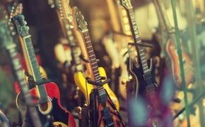 Wallpaper music, shop, electric guitar