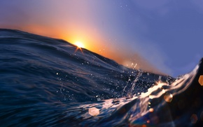 Picture water, rays, landscape, nature, the ocean, splash, ocean, landscape, nature, water, rays, splash, beautiful sunset …
