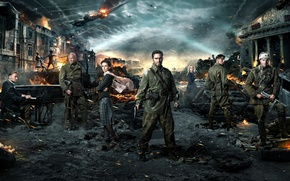 Picture soldiers, drama, military, Stalingrad