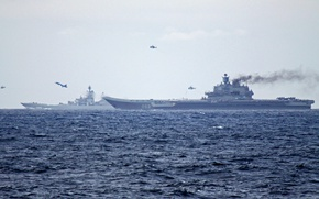 Picture aircraft, helicopters, Of the Navy of Russia, Aircraft-carrying cruiser Admiral Kuznetsov, Nuclear cruiser Peter the …