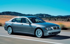 Picture road, BMW, silver