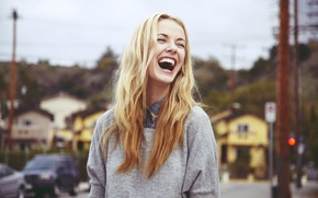Picture Girl, Blonde, Emotions, Laughter