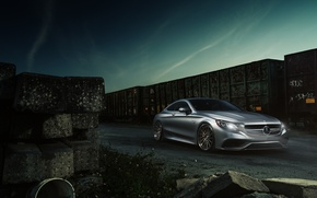 Picture Car, 2015, ADV.1, Coupe, Mercedes-Benz, AMG, S63, Wheels, Train