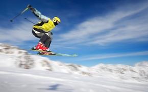 Picture winter, snow, jump, sport, ski