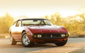 Picture car, Ferrari, red, 365, 1972, GTC-4