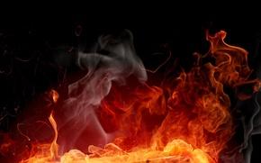 Wallpaper fire, flame